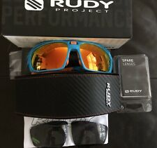 Rudy Project Sunglasess Triathlon Bike Run Sintryx Azur Polarized 3Fx Hdr + Lens