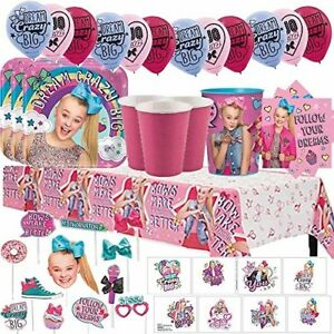 Jojo Siwa Mega Birthday Party Pack For 16 With Plates Napkins Cups Tablecover