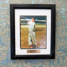 """""""Stan The Man"""" Stan Musial Authentic Signed Photo Professionally Framed"""