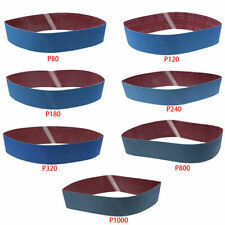 "3/5Pcs 4"" x 36"" Sanding Belts Strong Metal Grinding Tool 80-1000 Grit Power Kit"