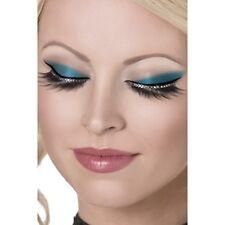 Glamour Negro Pestañas Postizas W Diamante Belleza Fancy Largo Natural falso Cristal