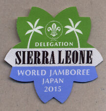 23rd world scout jamboree SIERRA LEONE Contingent badge 2015