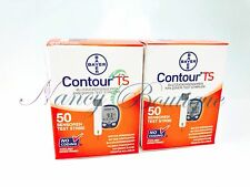 SALE Bayer Contour TS Diabetic Test Strips Sealed 100 (50*2) Exp 02/2019+ US Auc