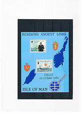 GB-Isle of Man 1980,Block 4,Renewing Ancient Left,mint