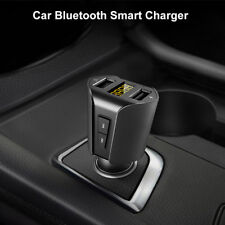 Dual-USB Bluetooth MP3 Player Car Charger Cigarette Lighter Adapter Wide