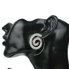 Women's Round Spiral Hoop Earrings Hook Spirals Gear Shape Hook Ear Ring Jewelry