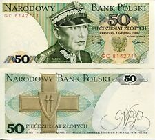 UNC Poland Polish 1988 50 Zloty Zlotych Proletariat Banknote Currency Communist