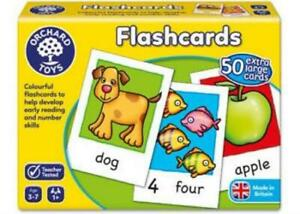 Flashcards Reading & Number Skills Game Orchard Toys OC019