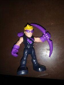 Playskool Marvel Super Hero Adventures HAWKEYE w/ Sunglasses Purple Bow Avengers