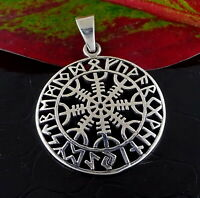 Icelandic THE HELM OF AWE Pendant Norse Magic Stave Sterling Silver Unisex Gift