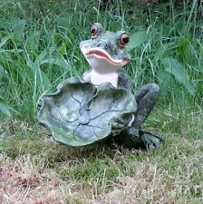 Frosch Vogeltränke Frog Gartenfigur Gartendekoration Teich Tümpel Deko 3542