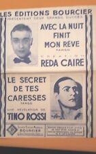 partition Tino Rossi le secret de tes caresses Editions Bourcier rare