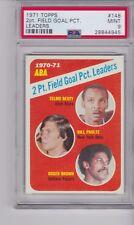 1971 Topps Basketball  #148 ABA 2pt Field Goal Pct Leaders PSA 9 MINT