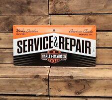 HARLEY Davidson servizio garage. EXTRA large in metallo in rilievo Sign. sign. VINTAGE