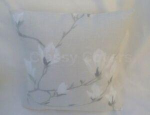 Laura Ashley Designer Cushion Cover MAGNOLIA GROVE NATURAL Fabric Various Sizes