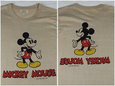 Vintage Mens M 60s 70s Walt Disney Mickey Mouse Tropic Togs Beige T-Shirt