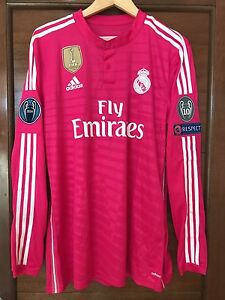 Real Madrid 2014-2015 Ronaldo pink Adizero Champions League player issue jersey