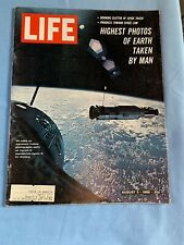 LIFE MAGAZINE, AUGUST 5, 1966, TONY LEMA, PHOTOS OF EARTH FROM  SPACE