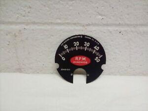 NORS 1960's Vintage Sun Instruments 2245-13c Tachometer Face 5000 RPM- NICE!
