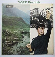 SXL 6363 - MENDELSSOHN - Scotish & Italian Symphonies ABBADO W/B - Ex LP Record