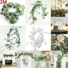Artificial Eucalyptus Decor Leaves Hanging Willow Vines Wedding And Home Garland