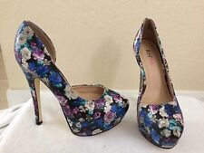 Just Fab Jazzy Floral High Stiletto Heels Pumps Size 7