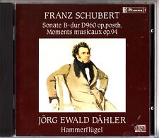 SCHUBERT - Sonate B-Dur D 960/Moments Musicaux CD Dahler/Hammerflugel 1987