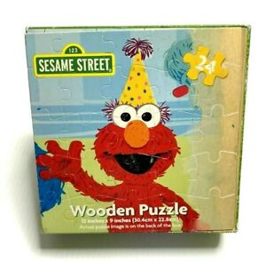 """2011 Sesame Street Cardinal Wooden Puzzle 12 X 9"""" Elmo the Grouch & Friends"""