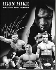Mike Tyson Signed Iron Mike B&W Collage 8x10 Photo JSA COA