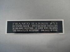 Franco Harris Steelers Nameplate For A Football Mini Helmet Display Case 1.5 X 6
