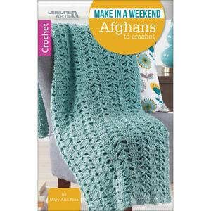 Leisure Arts-Make In A Weekend-Afghans To Crochet -LA-75590