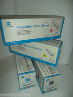 Konica Minolta Magicolor 2300 Toner Cartridge Set Yellow Cyan Black Magenta NEW