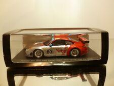 SPARK PORSCHE 997 GT3 RSR FLYING LIZARD #80 LM08 - RED 1:43 - EXCELLENT IN BOX