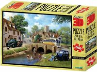 Kevin Walsh Super 3D Kids Puzzle, Down By The River Jigsaw Puzzle - 500 Pieces