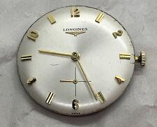Estate Vintage Longines Caliber 370 * 17 Jewel Wrist Watch Movement Dial & Stem