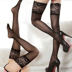 Lot Lady Women Sexy Lingerie Fishnet Lace Mesh High Thigh Stockings Pantyhose