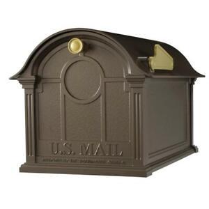 Post Mount Mailbox Extra Large Classic Non-Locking Durable Cast Aluminum Bronze