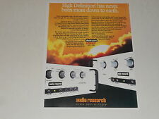 Audio Research SP14 / SP9 Tube Preamp Ad 1990 Article, 1 page, ready to frame