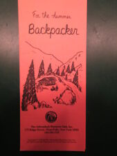 """Adirondack Mountain Club - Trifold Brochure """"For the Summer Backpacker"""""""