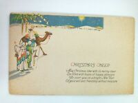 Vintage Postcard 1930 Christmas Cheer & New Year Holiday Camels