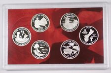 2009 US Mint Silver Proof DC and Territories Quarters 6 Gem Coins w/ Box & COA