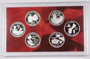 2009-S US Mint Silver Proof DC and Territories Quarters 6 Gem Coins w/Box & COA