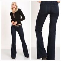 NWT FREE PEOPLE Perfect Navy Jolene Clean Flare Jeans 26, 27, 28, 29
