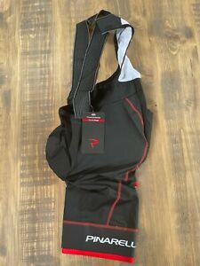 Pinarello Tour Mens BIb Shorts - Black/Red - M