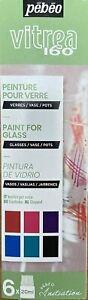 Pebeo Vitrea 160 Verre Peinture Initiation Set 6 x 20 ML