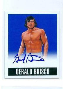 "GERALD BRISCO ""BLUE AUTOGRAPH #GB1 #07/25"" LEAF ORIGINALS WRESTLING 2014 WWE NWA"