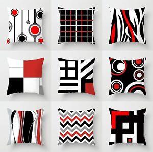 Polyester Creative Geometric Pillow Case Waist Throw Cushion Cover Home Decor
