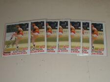 1982 Topps Baseball #90 Nolan Ryan 7 Card Lot