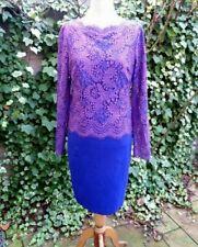 TED BAKER Festliches Kleid Spitze Langarm Reißverschluss Gr. 3 38 - 40 NEU!