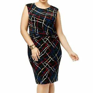 NEW ANNE KLEIN Women'sPlus Size Pleated-Waist Sheath Dress 0XL 1XL 2X 3XL, $129